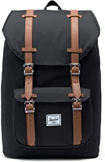Herschel Little America Mid-Volume, Black/Tan Synthetic Leather Backpack