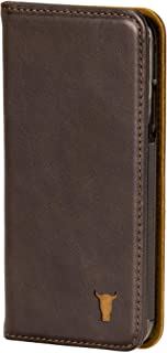TORRO Premium Leather Cell Phone case Compatible with iPhone XR, Stand Case for Apple iPhone XR (Handmade, Dark Brown USA Leather)