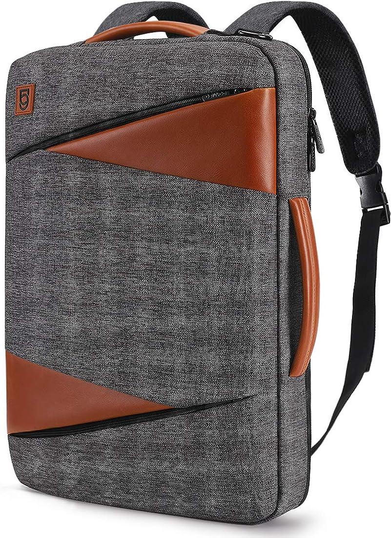DOMISO Mochila para ordenador portátil, impermeable, mochila para portátil, cartera, bolso bandolera, para escuela, viaje o trabajo AA43