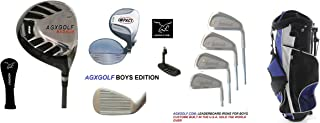 AGXGOLF Boys Right Hand Tour Eagle Combo Starter Golf Club Set w460cc Driver, Stand Bag & Free Putter; Tween or Teen Lengths, Built in The U.S.A.