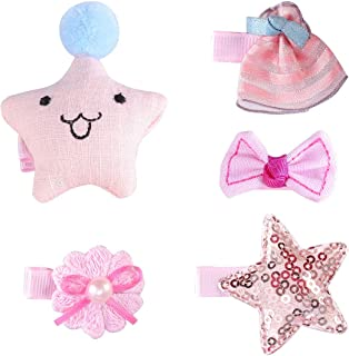 Lurrose Cloth Art Side Clip Fabrics Hairpin Hairclips Headdress for Children Kids 5pcs