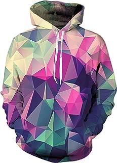 YAJOOEY Realistic 3D Print Galaxy Pullover Hooded Sweatshirt Hoodies Big Pockets