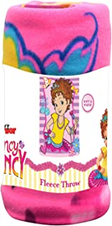 """Disney Junior Kid's Blankets & Throws Fancy Nancy Fleece Blanket, Super Soft & Warm Breathable Fabric Nap Mat, Collectible Novelty Throw for Toddlers, Ideal for Baby Gift 45""""x60"""" - Light Pink"""