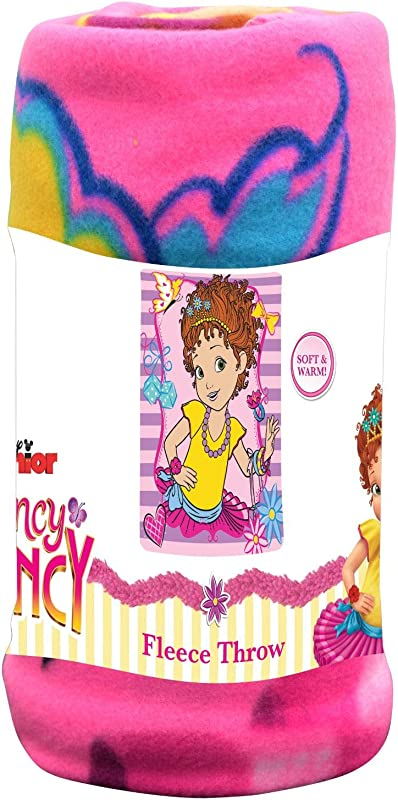 Disney Junior Kid S Blankets Throws Fancy Nancy Fleece Blanket Super Soft Warm Breathable Fabric Nap Mat Collectible Novelty Throw For Toddlers Ideal For Baby Gift 45 X60 Light Pink