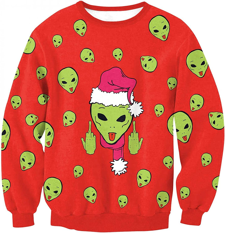 Crewneck Sweatshirt Women Oversized Fall Pullover Long Sleeve Blouse Funny Printed Tunic Trendy Basic Tops