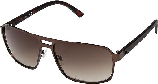 Satin Dark Brown/Brown Gradient Lenses