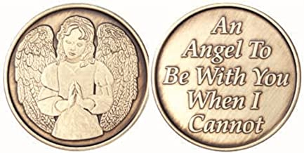 Bulk Lot of 25 Praying Guardian Angel To Be With You When I Cannot Bronze AA Medallion Chip Set