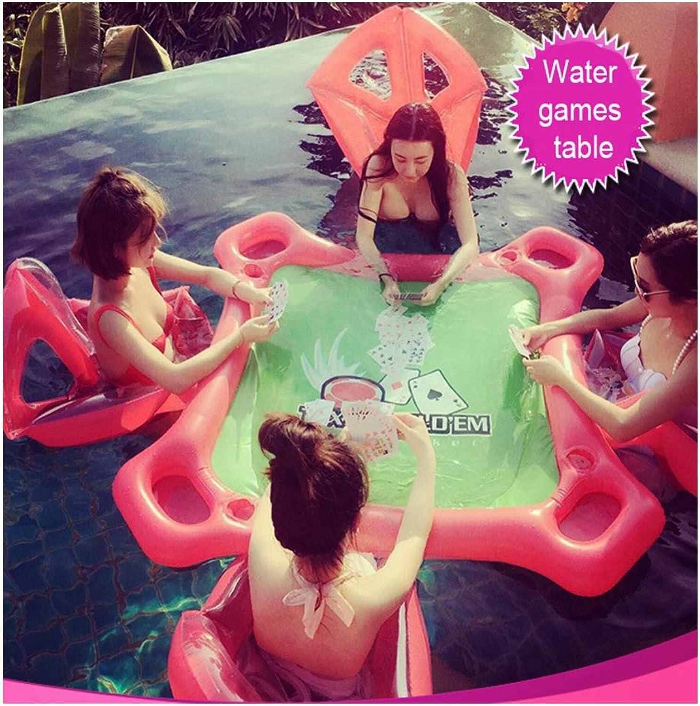 HLDX 53,15  53,15 Zoll aufblasbares Spielzeug-Swimmingpool-Wasser-Spiele Vier Leute-Mahjong-Tischspiel-Partei im Freien for Adults and Kids