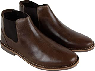 a64f7db5a1c Steve Madden P-Impass Mens Brown Leather Casual Dress Slip On Boots Shoes