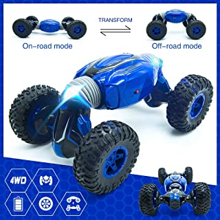 RC Car, Remote Control Car 2.4Ghz,4WD Off-Road Vehicles Rock Crawler Dual Motors with Two Rechargeable Batteries, Electric Toy Car Best Gift for Adults & Kids 2019 Updated 1/14 Scale