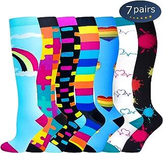 Compression Socks,15-20 mmHg Best Athletic and Medical Socks for Men & Women