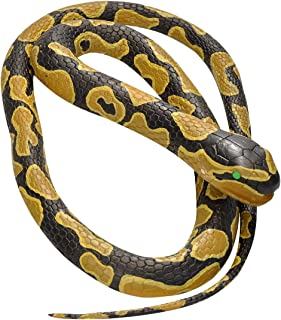 Wild Republic Ball Python, Rubber Snake Toy, Gifts for Kids, Educational Toys, 72 inches