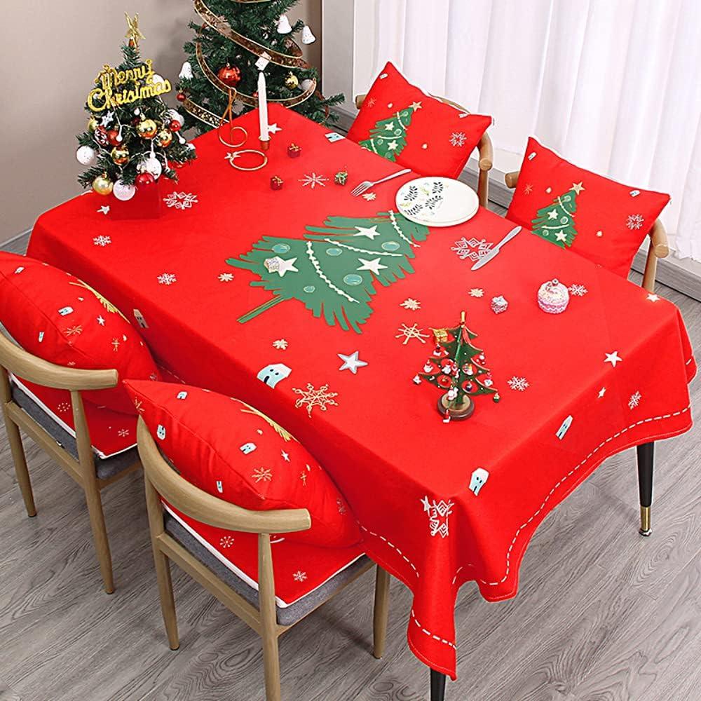 Christmas Table Cloth Ultra-Cheap Deals Santa New life Party Claus Decorati