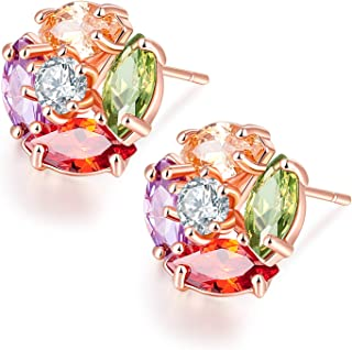 Sukkhi Crystals from Swarovski Stud Gold Plated Earring for Women and Girls (E80781)