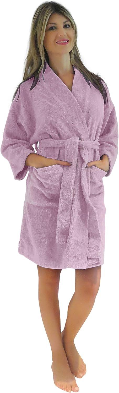 Bath & Robes Women's Chenille Short Robe Mid Knee Length Soft Bathrobe