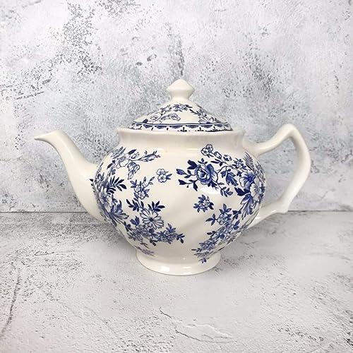 QPGGP-vaisselle thé en céramique, Porcelaine ménage Bleu et Blanc, thé, Lait, thé, Sucre, Cylindre, Tasse de thé,e