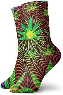 Dydan Tne, Cool Tie Dye Weed Calcetines de Vestir de diseño único Calcetines Divertidos Calcetines Locos Calcetines Casuales para niñas Niños