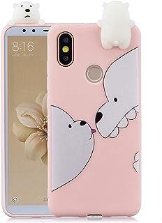 Xiaomi Mi A2 / Xiaomi Mi 6X ,Soft 3D Silicone Case,Cute Animal Rubber Cover,Cool Kawaii Cartoon Gel Cover for Kids Girls F...