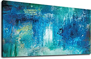 yearainn Abstract Wall Art Living Room Wall Decor Contemporary Wall Art Abstract Painting Picture Prints Bedroom Office Home Decor Blue Modern Canvas Artwork 20