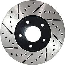[Front Drill&Slot Brake Rotors Ceramic Pads Fit 2009 Mitsubishi Lancer Ralliart
