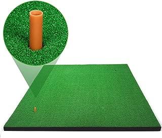 Forbidden Road Golf Mat 3ft x 5ft / 5ft x 5ft Golf Grass Mat with 2 Golf Tee Holes & 1 Golf Tee, Indoor Backyard Golf Pad for Golf Swing Practice Training