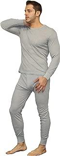 Men's Soft 100% Cotton Thermal Underwear Long Johns Sets - Waffle - Fleece Lined