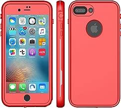 XLF iPhone 8 Plus Waterproof CASE (Red & Gray (iPhone 7/8 Plus 5.5