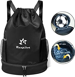 dc62f688833f Amazon.com  Blacks - Drawstring Bags   Gym Bags  Clothing