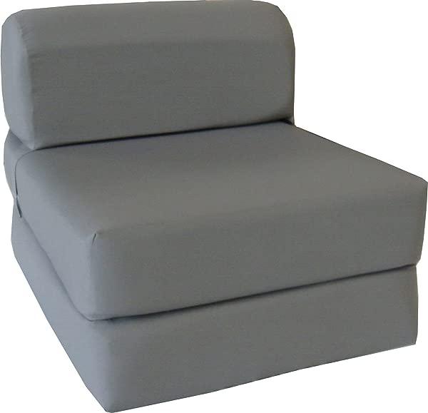 D D Futon Furniture Chair Folding Foam Bed Studio Sofa Guest Folded Foam Mattress 6 X 24 X 70 Gray