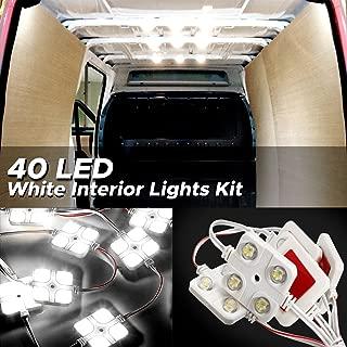 AUDEW 40 Led White Interior Lights Kit,12V LED Ceiling Lights Kit For LWB Van Trailer Lorries Sprinter Ducato Transit Boats VW