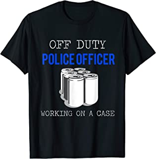 Mens Funny Police Officer Shirt - Off Duty Cop Tshirt