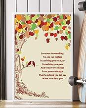 When Love Finds You Song Lyrics Mattata Decor Gift Portrait Poster Print (24