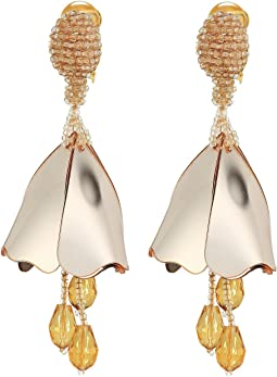 Oscar de la Renta - Small Impatiens C Earrings