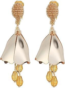 Oscar de la Renta Small Impatiens C Earrings