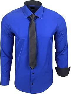 Camisa de la marca Rusty Neal R-44-KR, con corbata. Ideal para negocios, bodas y tiempo libre. Ajustada