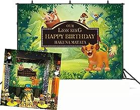 BINQOO 7x5ft Lion King Baby Simba Backdrop Background Kids Childrens Boys Birthday Party Photography Photo Vinyl Decoration