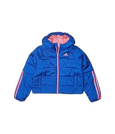 adidas Kids Crop Waist Puffer Jacket (Big Kids) (Brite Blue) Girl