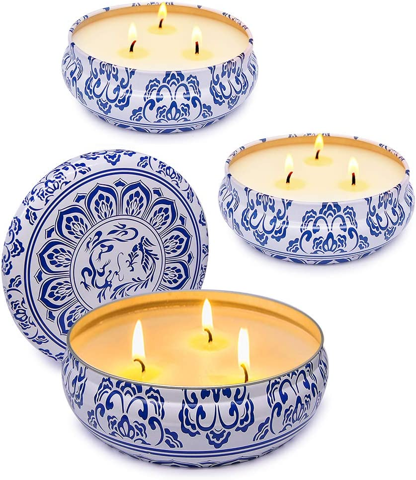 NIKY Set of 3 Citronella Candle Indoor Outdoor latest Soy W Scented Bombing free shipping and