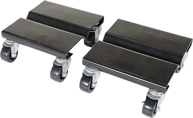 Vestil SDOL 2 Steel Dolly Set 500 Lbs Capacity 8 Length X 8 Width X 3 5 8 Height Deck Pack Of 2