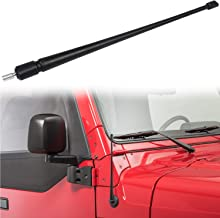 Danti for Jeep Wrangler Antenna - 2007-2020 JK JKU JL JLU 13.5 Inches Short Flexible Rubber Car Radio CB Mount Kit Replacement