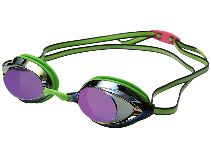 Speedo Vanquisher 2.0 Mirrored Goggle (Key Lime) Water Goggles