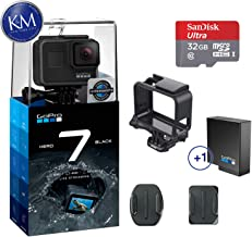 GoPro Hero 7 (Black) Action Camera w/ Extra (1) Battery Bundle
