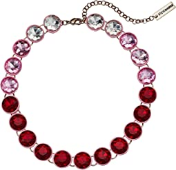 Round Rhinestone Link Collar Necklace