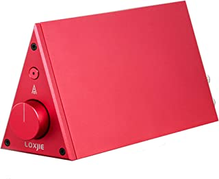LOXJIE A10 Desktop Stereo Power Amplifier Digital Class-D High-Power Audiophile Level Amp Chip TPA3116 (Red)
