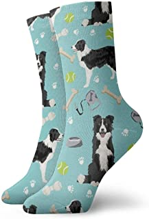 goodshop1988, Calcetines Transpirable Border Collie Toys Balones deportivos Calcetines deportivos Exóticos Modernos Mujeres y hombres Calcetines deportivos deportivos impresos 30 cm (11.8 pulgadas)