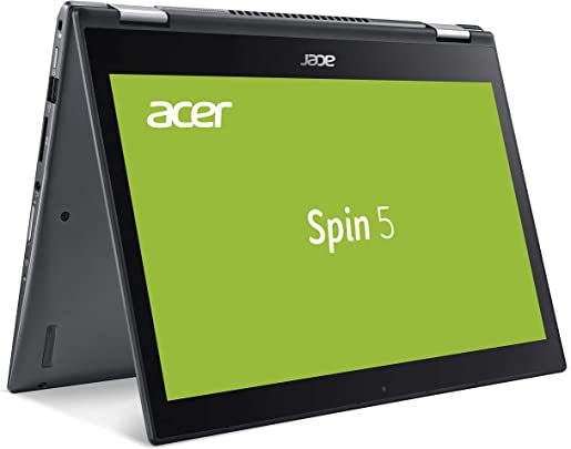 Acer Spin SP513-52N-55AZ 33 8 cm 13 3 Zoll Full-HD IPS Multi-Touch Convertible Laptop Intel Core i5-8250U GB RAM 512 GB SSD Intel HD Win 10 Home grau Schätzpreis : 394,00 €