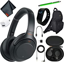 Sony WH-1000XM3B Wireless Bluetooth Noise-Canceling Over-Ear Headphones (Black) Essential Commuter Bundle Kit with Deluxe ...