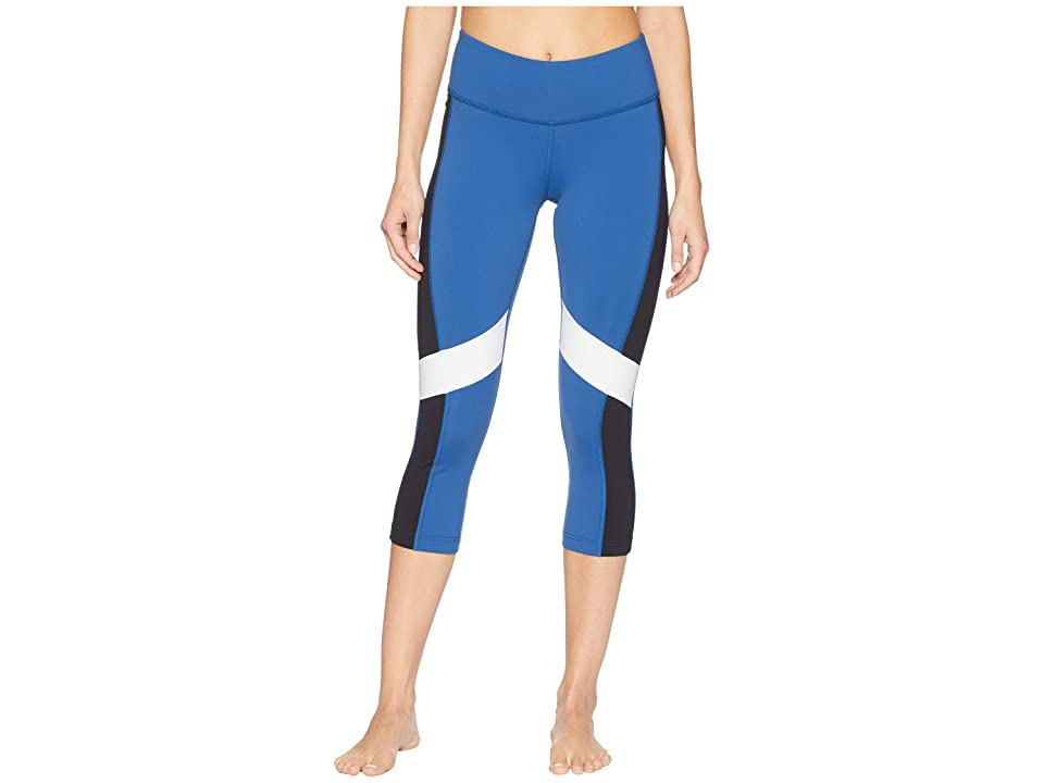 Reebok Lux 3/4 Tights Color Block (Bunker Blue/Black) Women