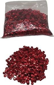 Craftbox 5 Mm Round Sequins, Red