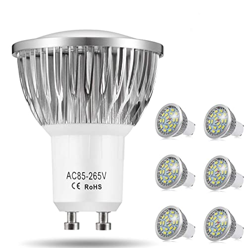 WARM WHITE 240 LUMENS 6 x LED BULB GU10 3W